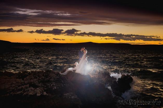 Marcsi és Máté – esküvői kreatív és trash the dress fotózás Horvátországban